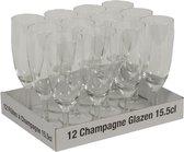 Champagne Glazen - 15,5 cl - 12 Stuks