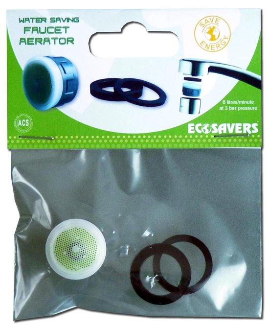Ecosavers Waterbesparende Aerator Straalregelaar | Water Bespaarder | Mixed water met lucht waardoor minder water benodigd is