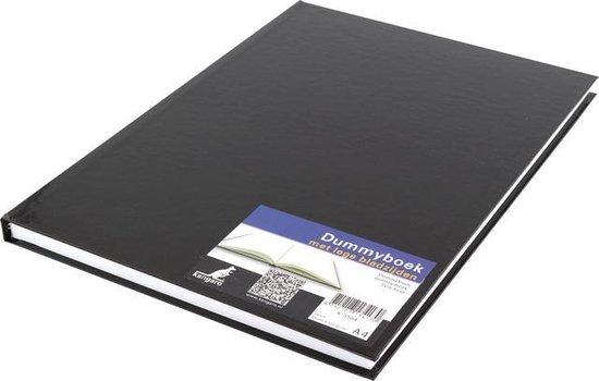 dummyboek Kangaro A4 blanco hard cover 80 blad 100grs zwart
