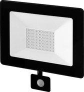 Buitenlamp zwart | LED 50W=500W halogeen schijnwerper | IR bewegingssensor | koelwit 4000K | waterdicht IP65