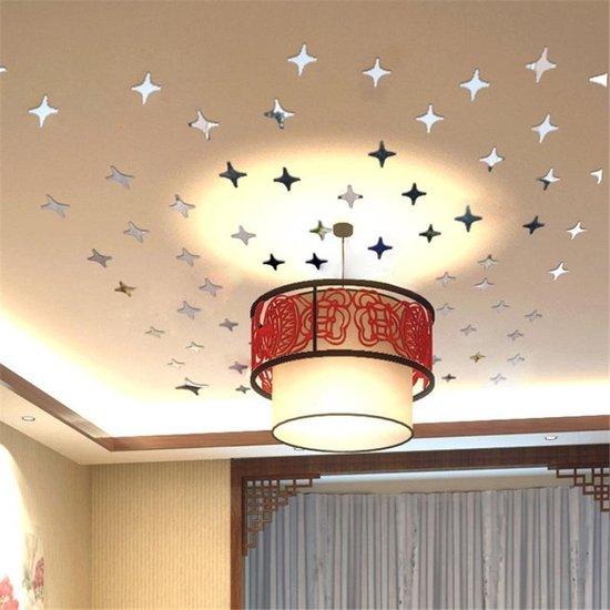 Bol Com 50x Plafond Sterrenhemel Spiegel Decoratie Stickers Babykamer Woonkamer
