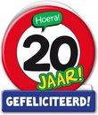 Paperdreams - Wenskaart - Verkeersbord - 20 Jaar