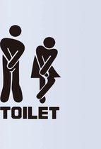 Deursticker Toilet - Muursticker Decoratie - WC Sticker