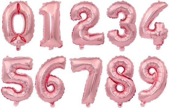 XL Folie Ballon (9) - Helium Ballonnen – Folie ballonen - Verjaardag - Speciale Gelegenheid  -  Feestje – Leeftijd Balonnen – Babyshower – Kinderfeestje - Cijfers - Champagne Rose