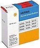 HERMA 4803 Nummernetiketten 3-voud zelfklevend 10x22 mm blauw/zwart
