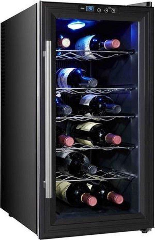Koelkast: Caviss SP118CFEG - Vrijstaande Wijnkoelkast -18 flessen - 1 Temperatuur, van het merk Caviss