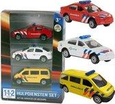 Nederlandse politie/brandweer/ambulance speelgoedauto set 7,5 cm - Speelgoed auto's voor kinderen
