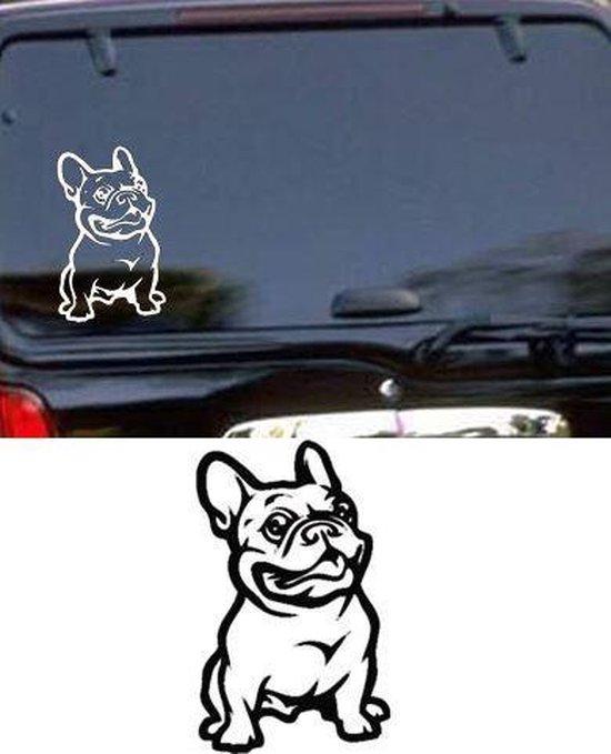 Franse Bulldog sticker zwart, sticker hond, raamsticker, autosticker hond, franse bulldog autosticker,  sticker voor skateboard, koffer, laptop, tablet, Ipad, auto, gladde muur etc.