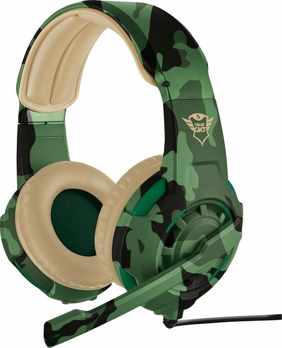 Trust GXT 310 Radius - On-ear Gaming Headset voor PS4 en PC - Jungle Camouflage