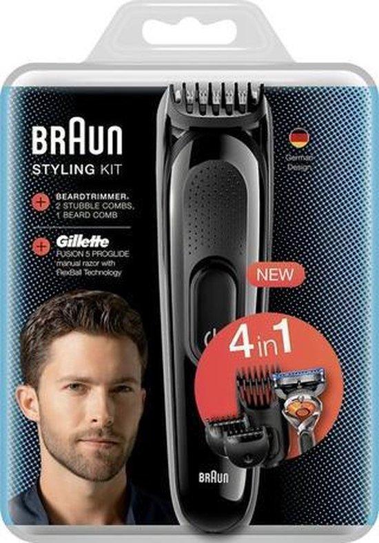 De Braun SK3000 4-in-1 Styling Kit baard- en haartrimmer