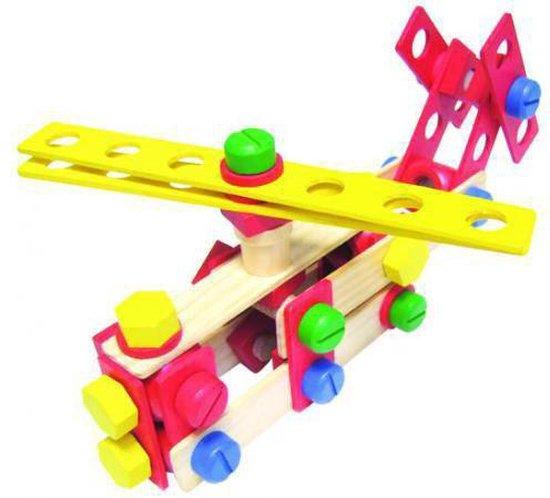 Houten bouw en constructie speelgoed Vilac 106 delige