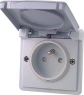 NIKO Hydro stopcontact - deksel - penaarde - enkelvoudig