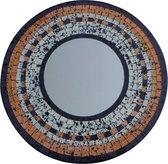 Spiegel met mozaiek aardetinten 50cm