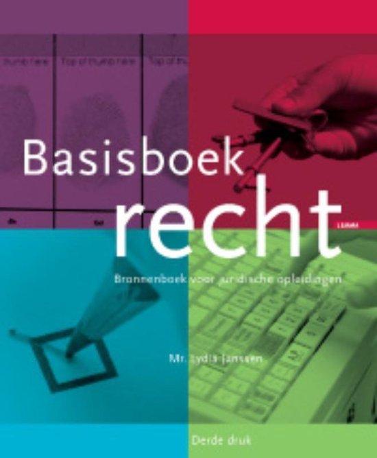 Basisboek recht - Lydia Janssen | Fthsonline.com