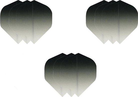 3 sets (9 stuks) Super Sterke - Dragon darts  - Fade Top Zwart - darts flights