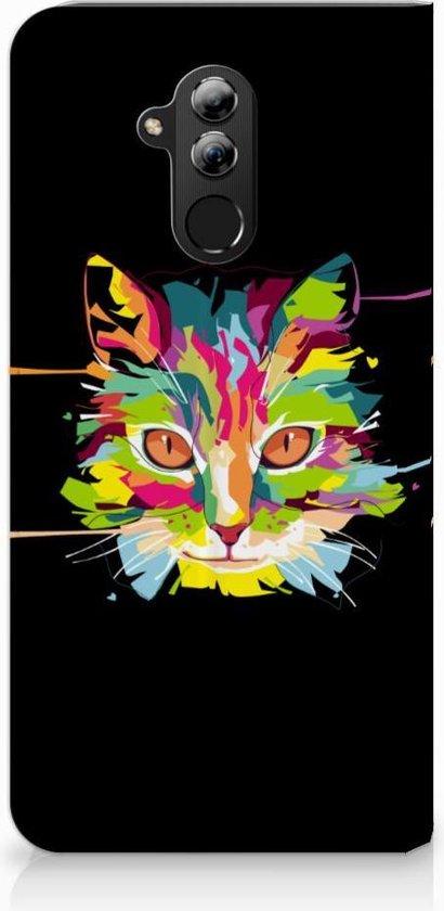 Huawei Mate 20 Lite Uniek Standcase Hoesje Cat Color