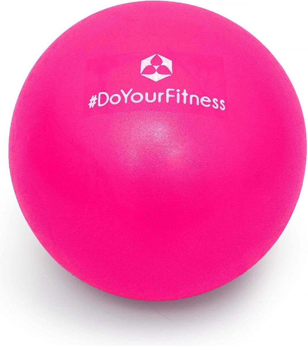 #DoYourFitness - Mini Pilates Bal - »Balle« - Gymnastiekbal: Effectieve training voor spierspijn - 33cm - Roze - #DoYourFitness