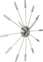 NeXtime Plug Inn - Klok - Stil Uurwerk - Rond - Metaal - Ø58.5 cm - Grijs
