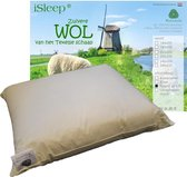 iSleep Wollen Hoofdkussen Basic - 60x70 cm - Ecru
