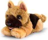 Keel Toys pluche Herdershond bruin honden knuffel 25 cm - Honden knuffeldieren - Speelgoed voor kind