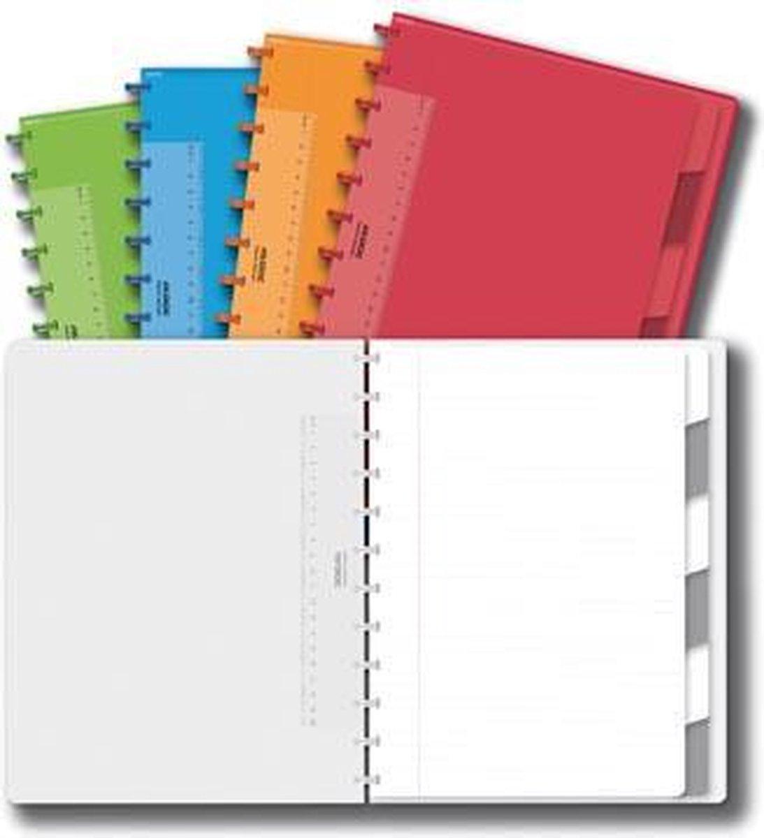 Adoc schrift Colorlines - 1 stuk - A4-formaat (21 x 297 cm) - Gelijnd - Adoc