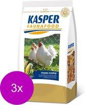 Kasper Faunafood Vitamix Krielkip - Kippenvoer - 3 x 3 kg