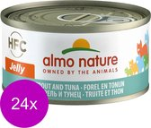 Almo Nature - Forel en Tonijn - 24 x 70 g