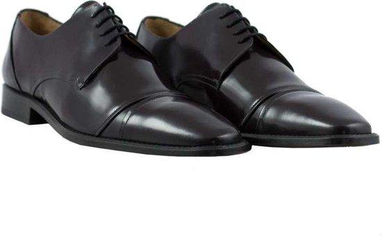 Herenschoenen - handgemaakt - man - leer - bordeauxrood - leather - maat 42