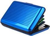 Kaarthouder - Pasjeshouder – Aluminium Portemonne - Blauw
