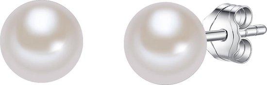 Valero Pearls Parel oorstekers Sterling zilver Gekweekte zoetwaterparels wit