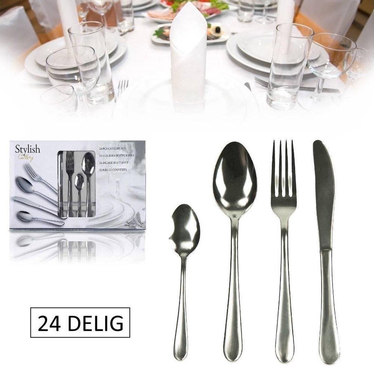 Bestekset Stylish Cutlery (24-delig) - Camping Bestek - Stylish Cutlery