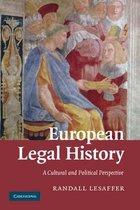 Boek cover European Legal History van Randall Lesaffer