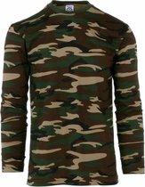 Camouflage shirt voor heren lange mouw S (48)