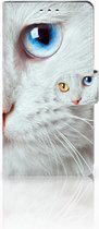 Bookcase Sony Xperia XZ1 Witte Kat