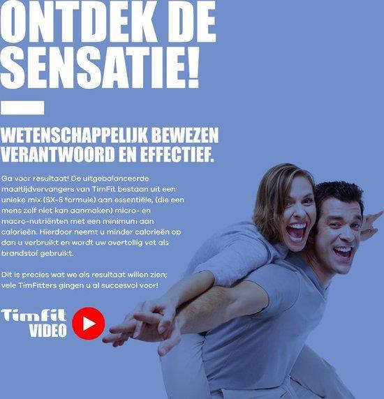 TimFit Eiwitdieet Maaltijdshake 18 Sachets - Vanille