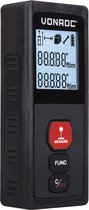 VONROC Laser afstandsmeter – 30 meter bereik – Mee