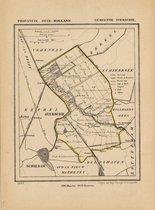 Historische kaart, plattegrond van gemeente Overschie in Zuid Holland uit 1867 door Kuyper van Kaartcadeau.com