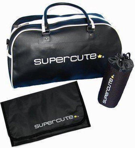 Supercute - Verzorgingstas - Luiertas - Zwart