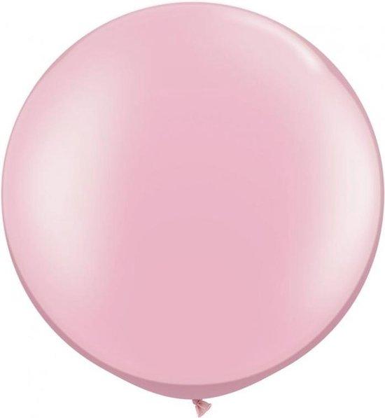 MEGA topping ballon Baby Roze