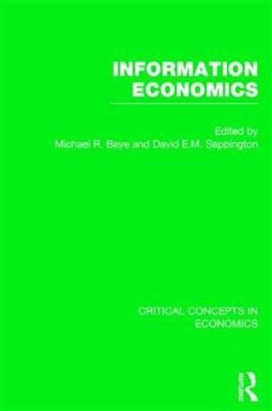 Boek cover Information Economics van Sappington, David (Hardcover)