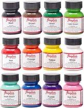 Angelus Leerverf 12 kleuren assortiment set - 29,5ml