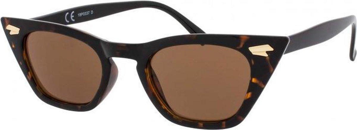Icon Eyewear Zonnebril GRACE - Tortoise montuur - Bruine glazen