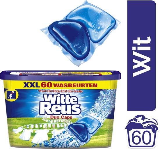 Witte Reus Duo-Caps Wasmiddel Capsules - Voordeelverpakking - 60 wasbeurten