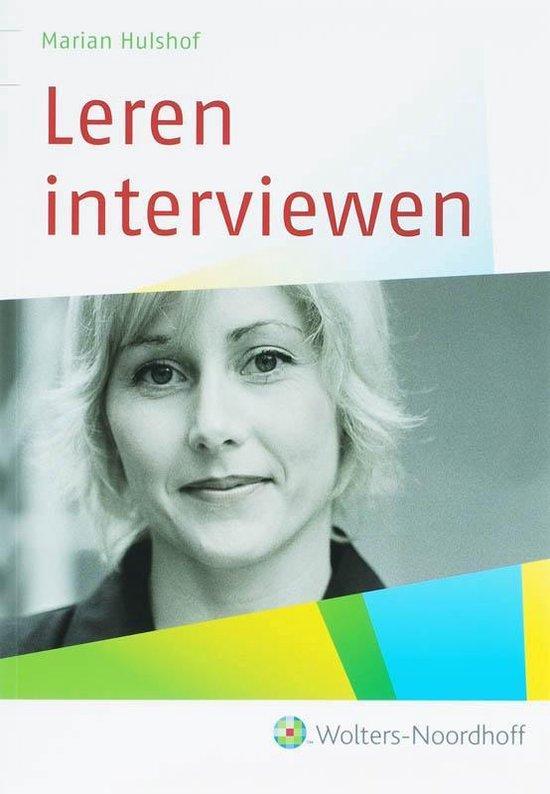 Leren interviewen - Marian Hulshof |