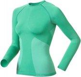 Odlo Evolution Set - Sportshirt/ broek - Dames - Groen - Maat XL