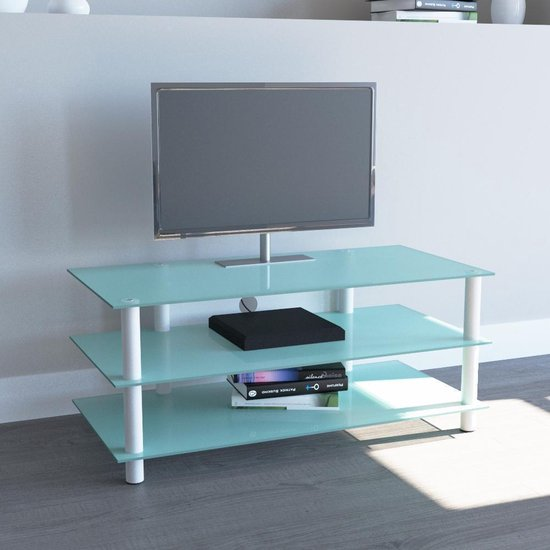 Tv Meubel Mat Glas.Bol Com Tv Meubel Tv Kast Zumbo 110 Wit Mat Glas