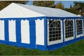 Classic Plus Partytent PVC 5x8x2 mtr in Wit-Blauw