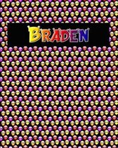 120 Page Handwriting Practice Book with Colorful Alien Cover Braden