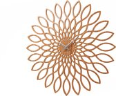Karlsson Sunflower - Klok - Rond - Hout - Ø60 cm - Bruin