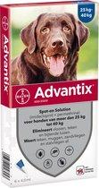 Advantix Spot-on 400/2000 - 25 Tot 40 kg - 6 Pipet